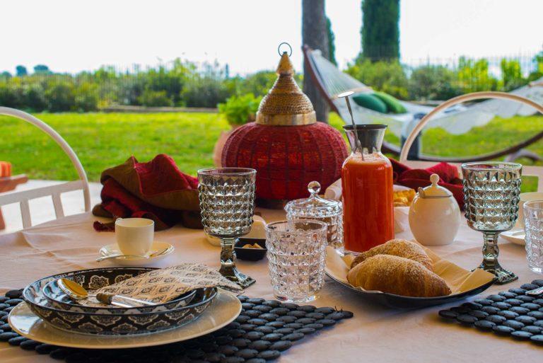 La colazione al Bed & Breakfast Tra gli Alberi e il Mare a Sirolo (AN)